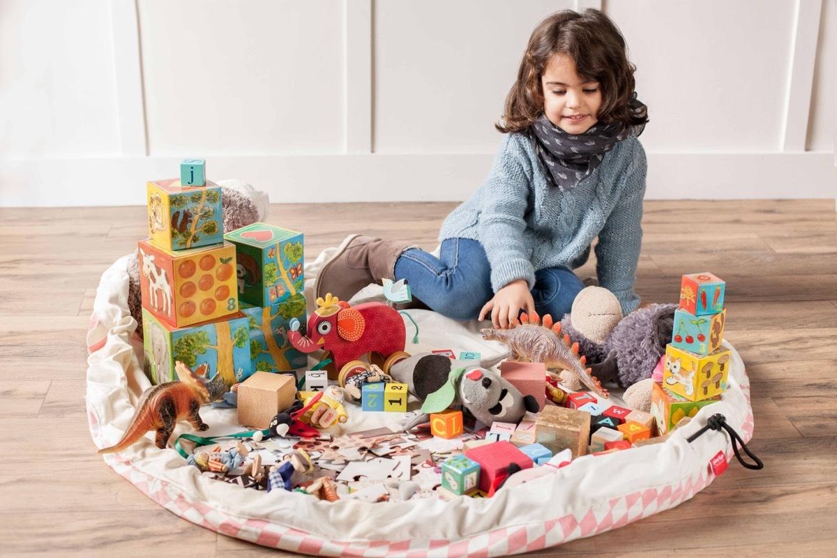 Коврик-мешок для игрушек Play&Go. Коллекция Print. Розовый бриллиант