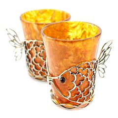 Янтарная стопка Золотая Рыбка
