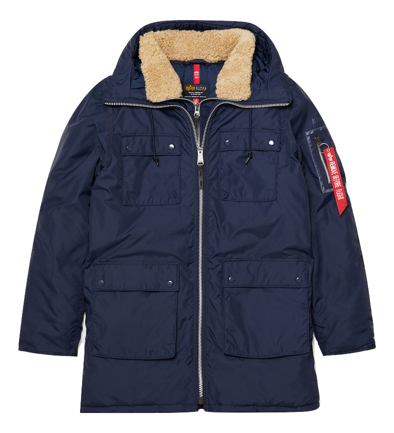 Парка Alpha Industries N-3B Skytrain Parka Rep. blue (синяя)