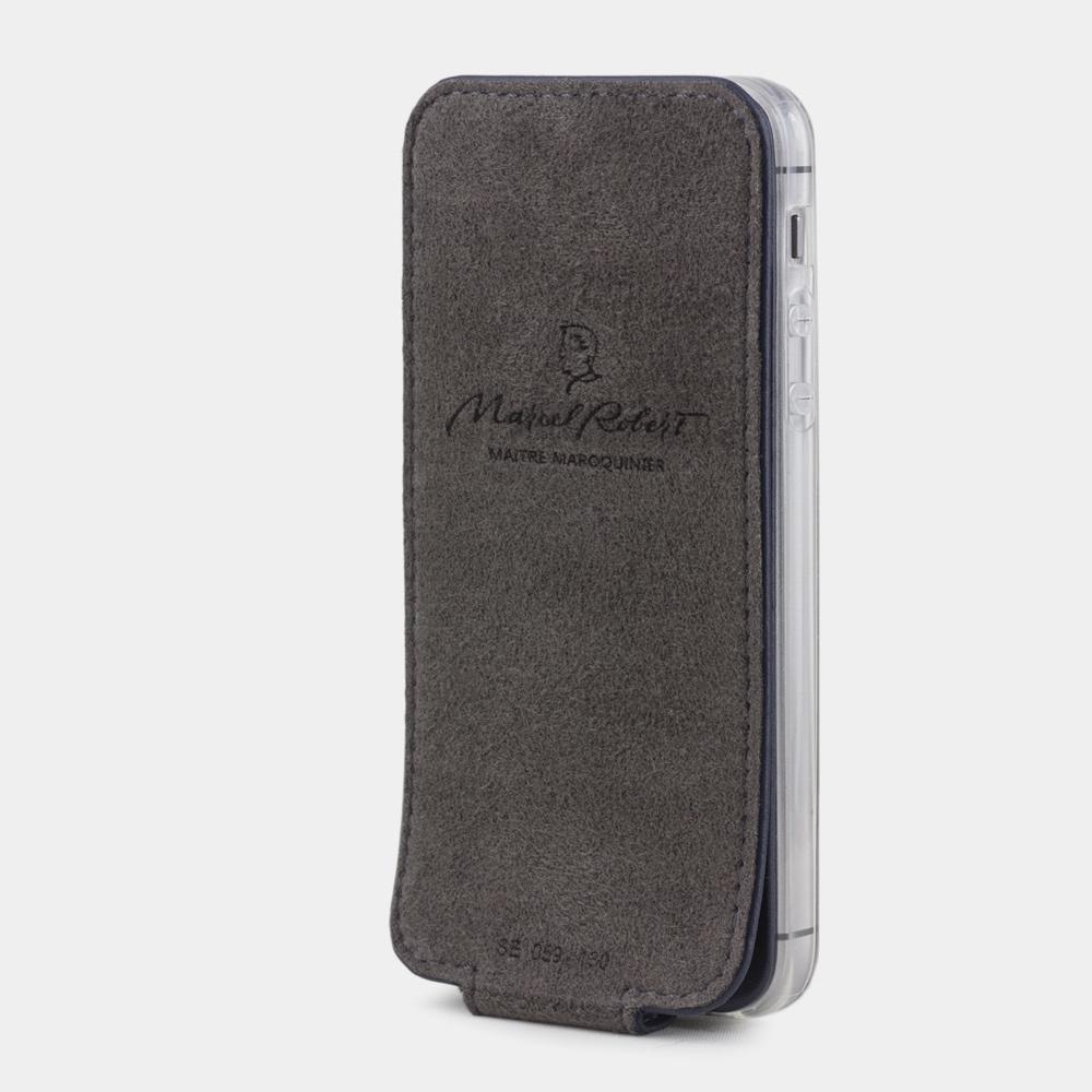 Чехол для iPhone 5S/SE из натуральной кожи теленка, цвета индиго