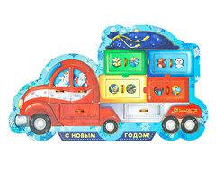 Пазл Новогодний грузовик, Smile decor П247