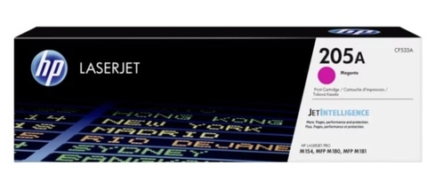 Оригинальный картридж HP CF533A 205A пурпурный
