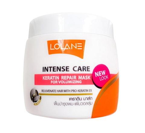 Маска кератиновая для восстановления и утолщения волос Lolane Keratin Repair Mask For Volumizing, 200 гр.