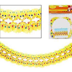 Гирлянда Веселенькая  желтая в горошек 16х16см 4м