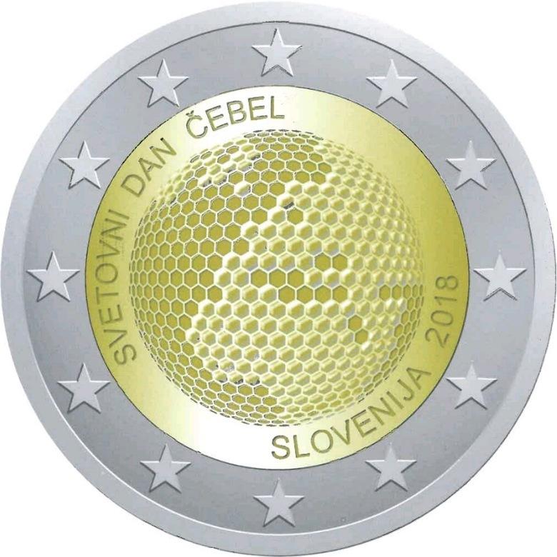 2 евро 2018 Словения - Всемирный день пчеловодства