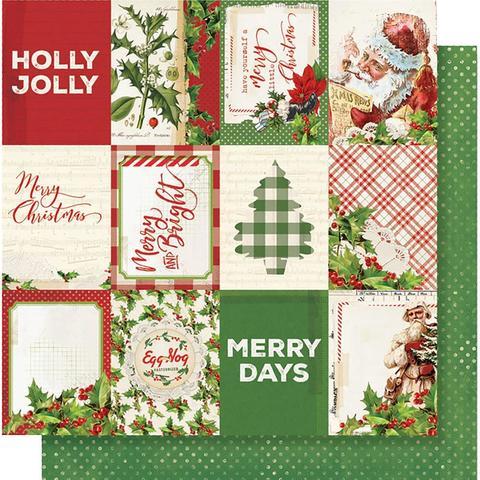 Лист двусторонней бумаги 30х30 см. - Simple Vintage Christmas - Elements