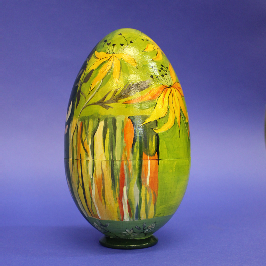 Яйцо-шкатулка пасхальное Сухоцвет