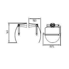 Держатель для туалетной бумаги KAISER Konus KH-2020 схема
