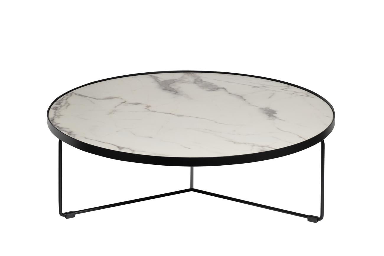 Стол журнальный 33FS-CT275-BL Royal White d90*27,5см