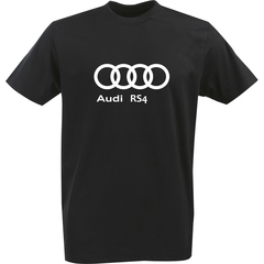 Футболка с однотонным принтом Ауди (Audi RS4) черная 0035
