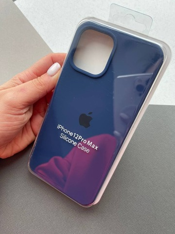 Чехол iPhone 12 (6,7) Silicone Case Full /deep navy/