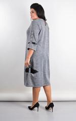 Дениз. Оригинальное платье для больших размеров. Серый.