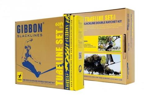 Картинка слэклайн Gibbon Tube line c двумя трещетками  - 4