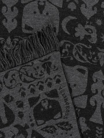 Тёмная Ночь – серые тона № 2.2 (С бахромой)