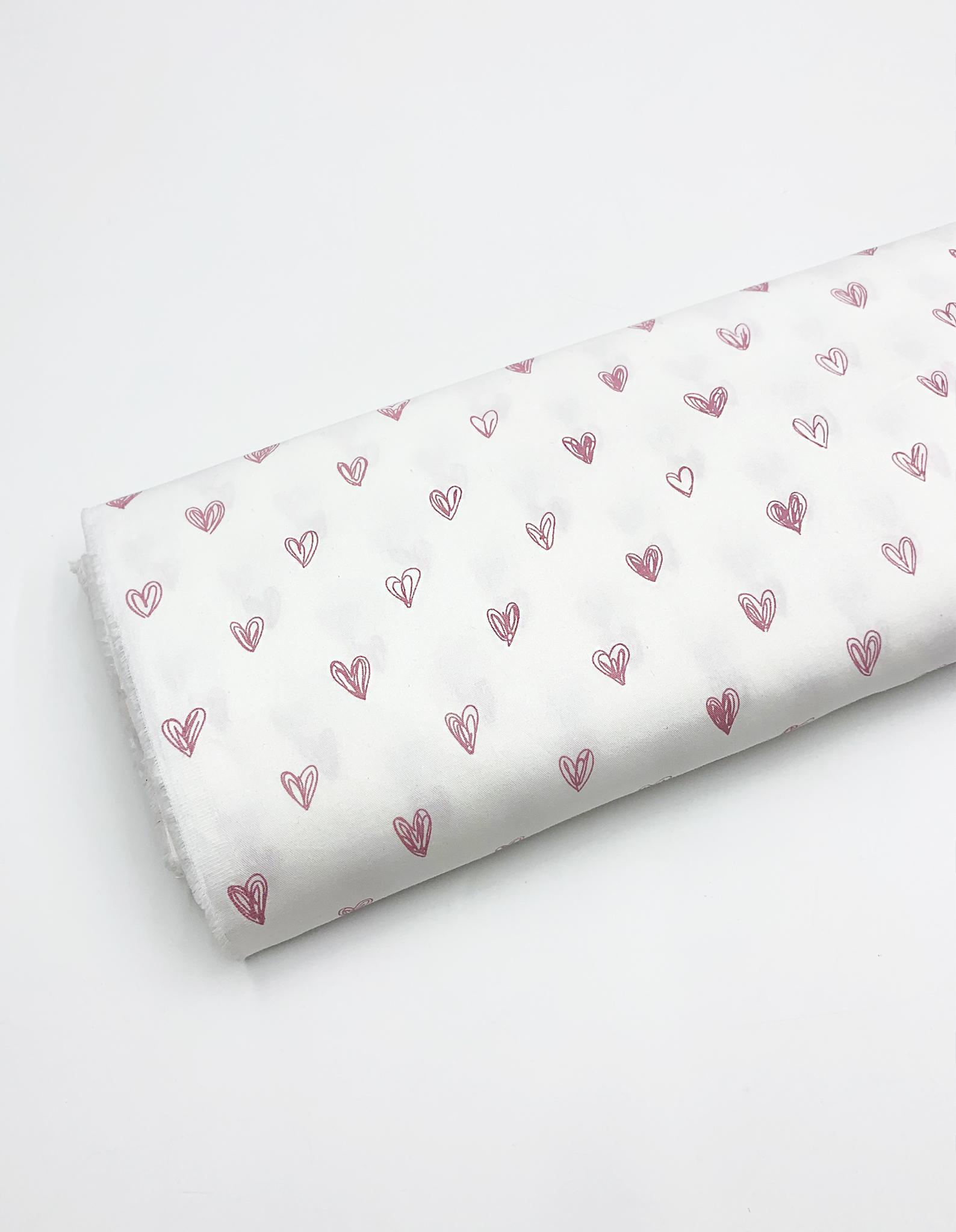Сердечки розовые