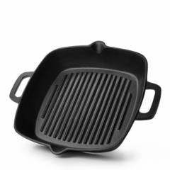 Сковорода-гриль 26x5,3см квадратная (чугун)