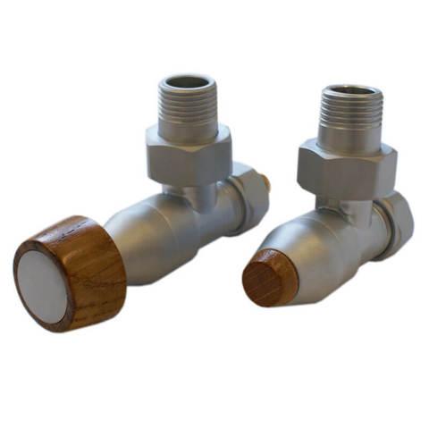 Комплект угловой Сатин 1/2 x M22x1,5, Коническая деревянная рукоятка тип 167. Для стали GW M22x1,5 x GWx1/2