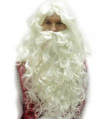 Парик и борода Деда Мороза профессиональные