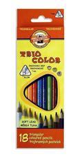 Карандаши цветные TRIOCOLOR 3133, 18 цветов