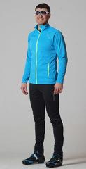 Элитный утеплённый лыжный костюм Nordski Elite Pro Blue-Black мужской