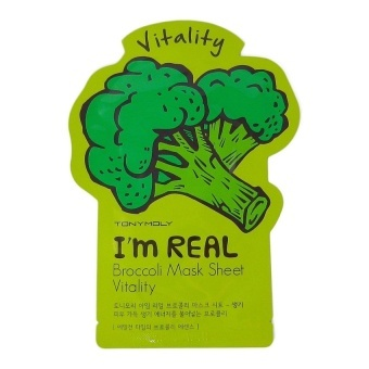 Тканевая маска с экстрактом брокколи TONY MOLY I'm Real Broccoli Mask Sheet