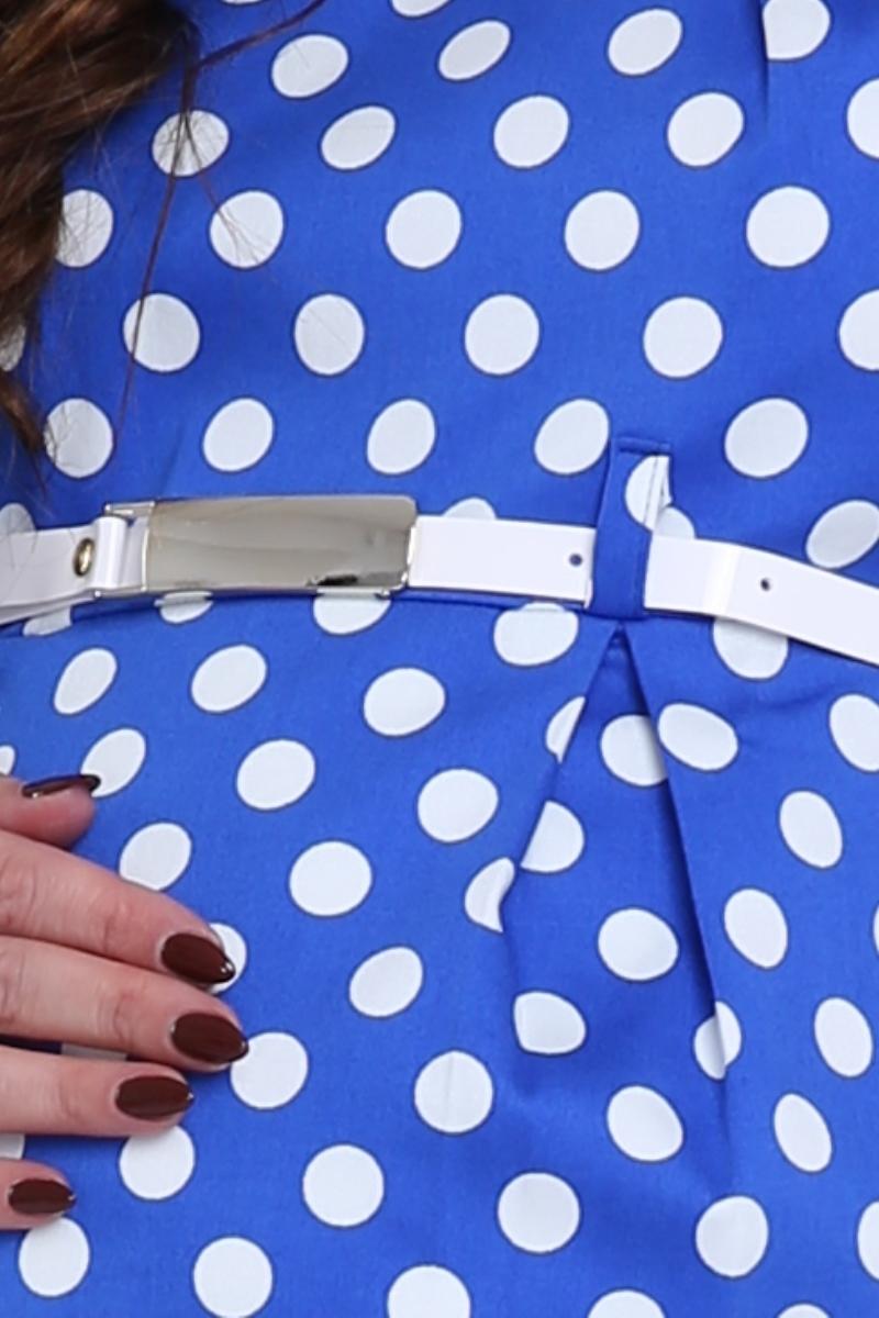 Фото платье для беременных Mama i Ja, прямое от магазина СкороМама, синий в горох, размеры.