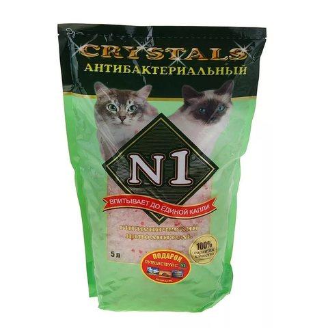 Наполнитель силикагелевый Litter N1 Crystals-antibacterial silica gel