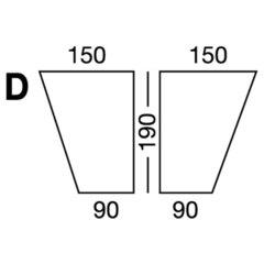 Elastic sheet / model D / beige