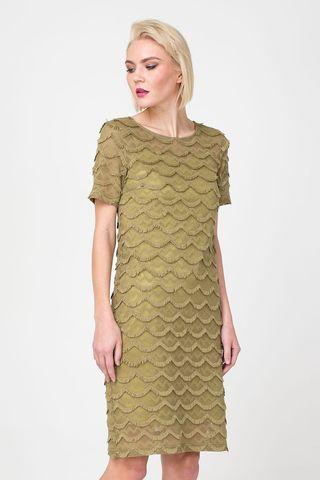 Фото платье 2 в 1 прямого силуэта из кружевной ткани - Платье З355-165 (1)