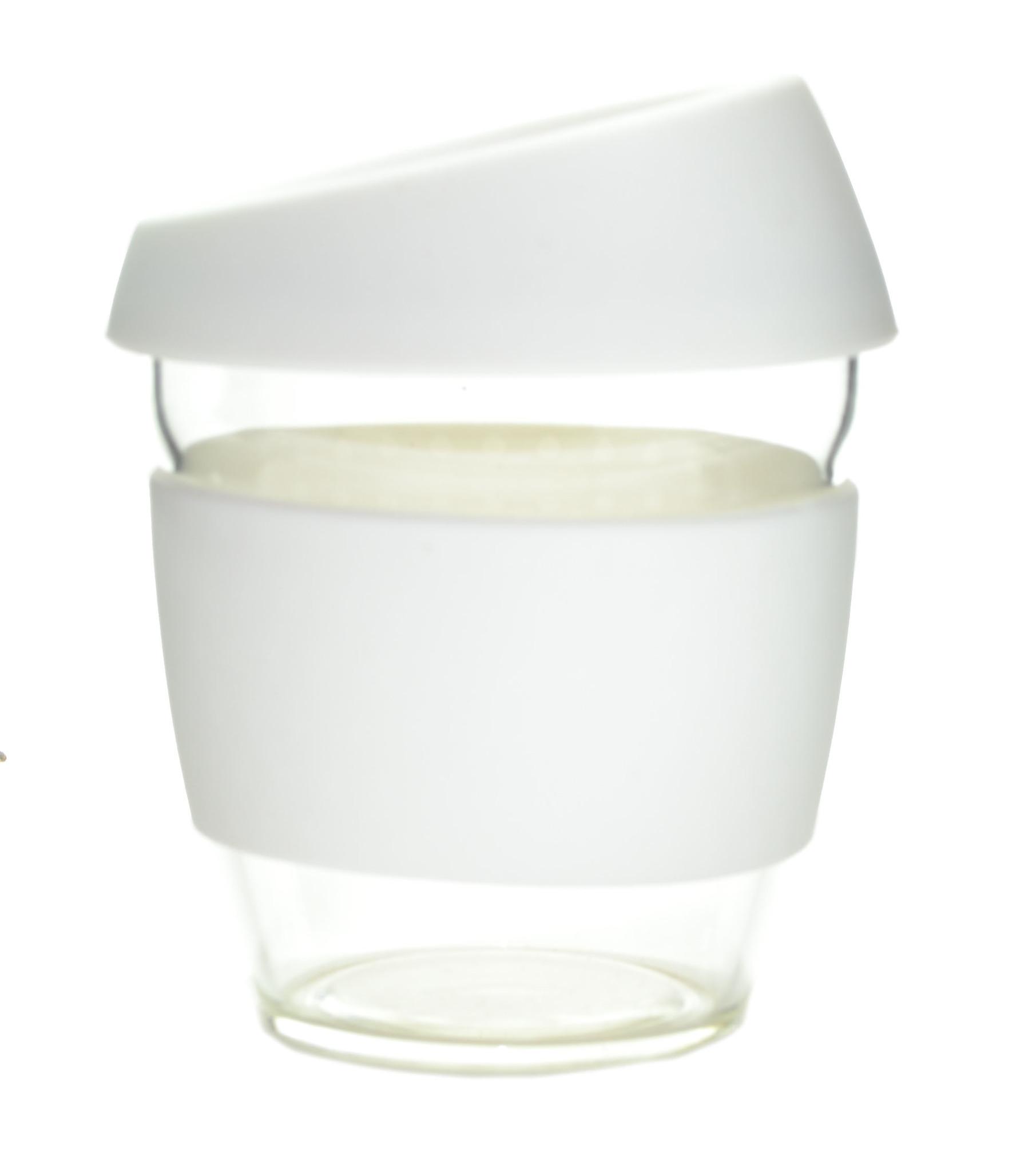 Кружка Coffee Cup из боросиликатного стекла 226 мл. белый