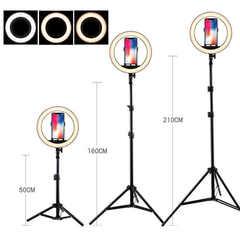 свет видеосъемка светодиодный осветитель 26 см ring fill light control
