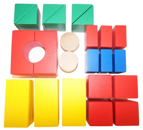 Деревянный конструктор Строитель настольный - 26 элементов