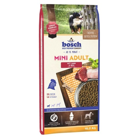 Bosch Mini Adult Lamb & Rice 15 кг