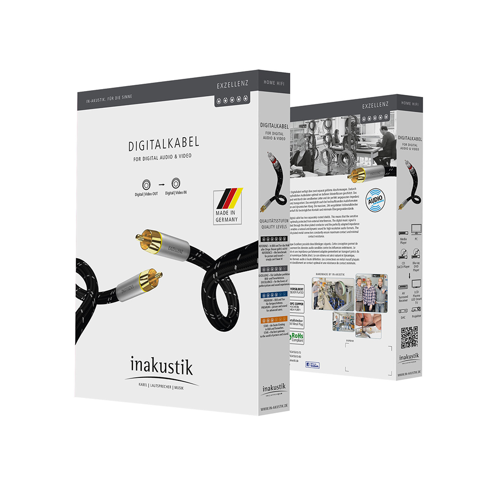 Inakustik Exzellenz Digital Cable, RCA, 1.5 m, 006044015