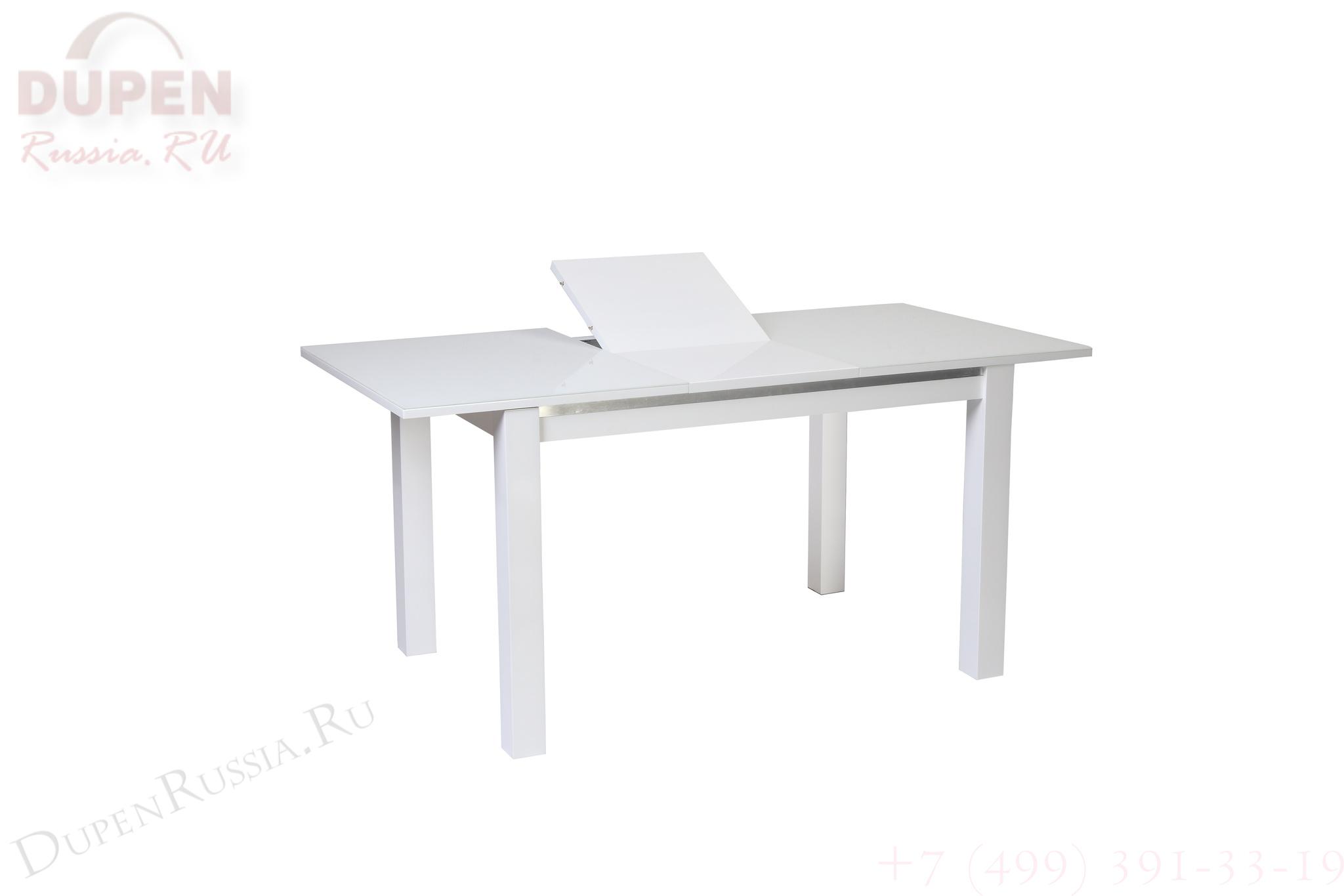 Стол обеденный AVANTI FIESTA (110) SUPER WHITE (белый)