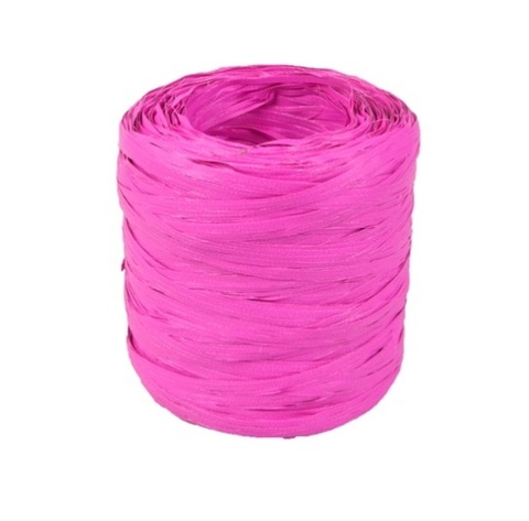 Рафия искусственная Польша 200 м Цвет:ярко-розовая