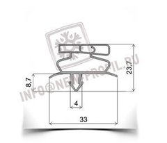 Уплотнитель 65,5*56,5 см для стола охлаждаемого True TUC-48-HC (размер по пазу). Профиль 019