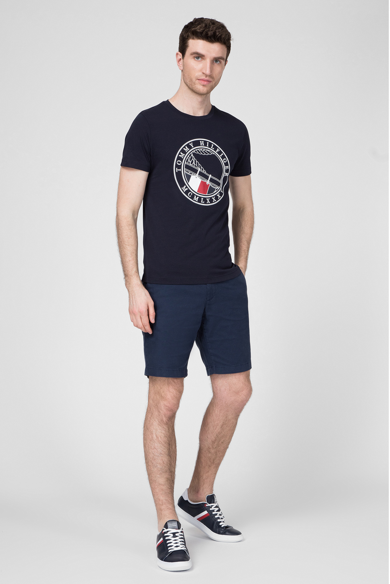 Мужская темно-синяя футболка TONAL ANCHOR Tommy Hilfiger