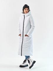 Женское пальто еврозима Макси белый