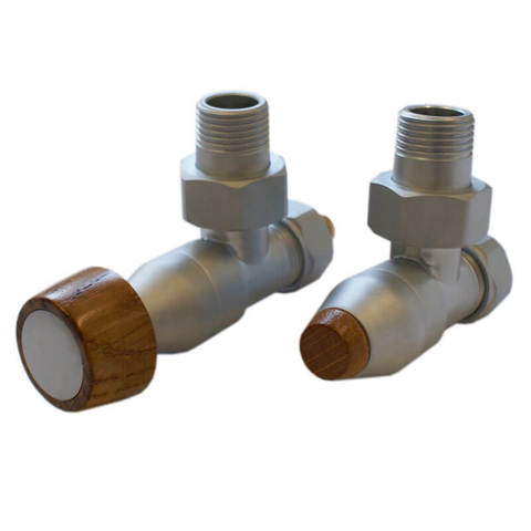 Комплект угловой Сатин 1/2 x M22x1,5, Цилиндрическая тонкая рукоятка тип 138. Для пластика GW M22x1,5 x 16x2