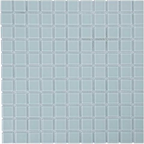 Мозаика стеклянная Aquaviva Сristall белая LM-NW / 16973