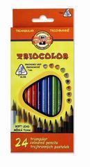 Карандаши цветные TRIOCOLOR 3134, 24 цвета