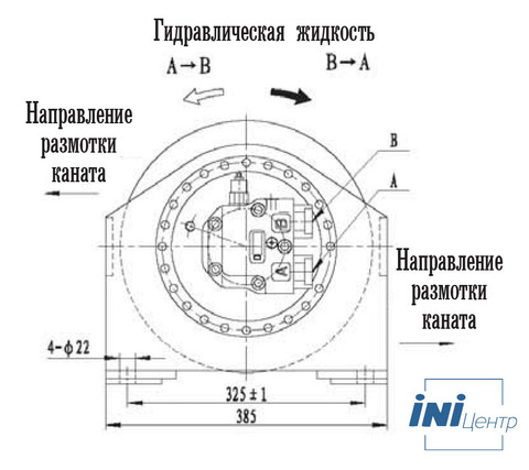 Стандартная лебедка IYJ2.5-22-130-14-ZP