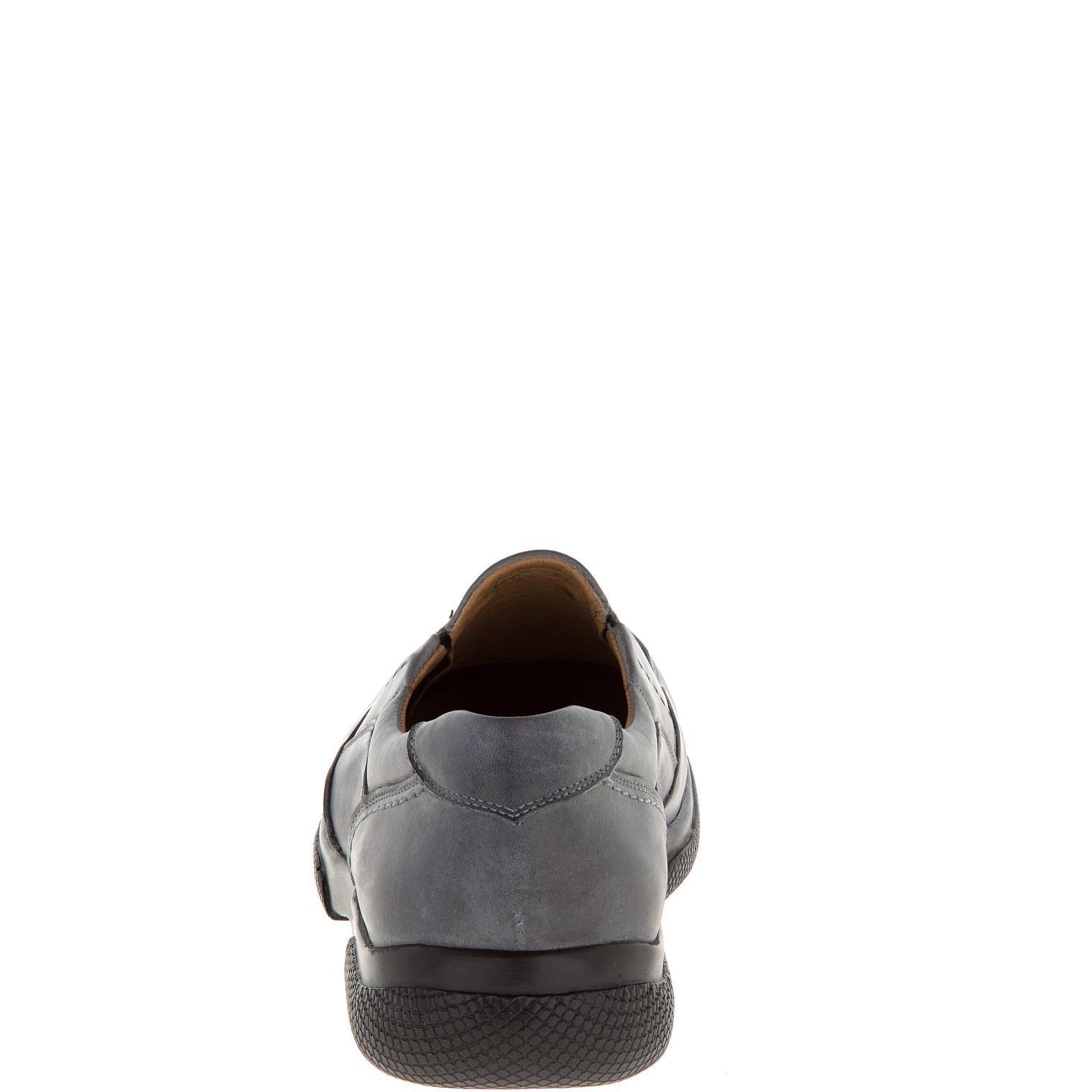 582367 полуботинки мужские серые больших размеров марки Делфино