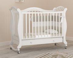 Кровать детская Габриэлла люкс на колесиках с ящиком белый