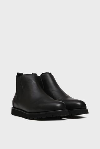 Мужские черные кожаные челси с мехом Dawson Preppy