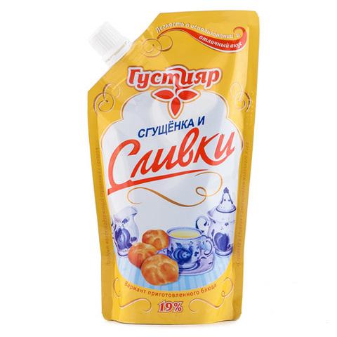 """Сливки сгущенные """"Густияр"""" с сахаром 19%, 270 г"""
