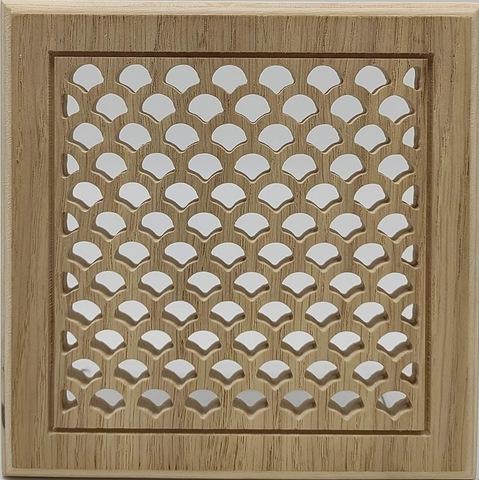 Решетка декоративная деревянная на магнитах Пересвет К-16 150х150мм