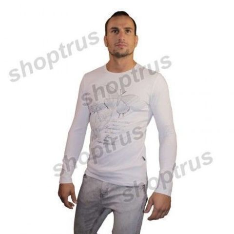 Мужская футболка с длинным рукавом белая Dolce&Gabbana FDR0107