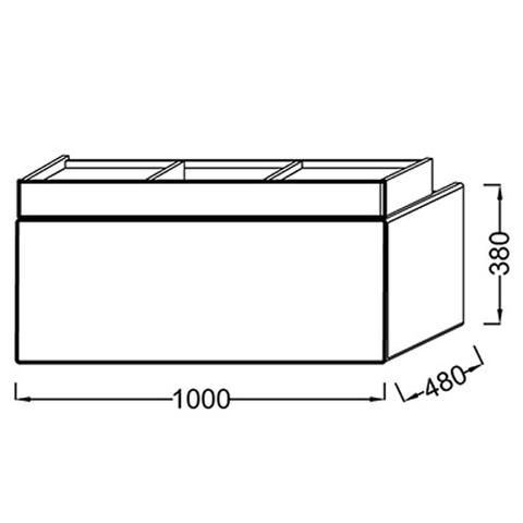 Мебель под раковину Jacob Delafon Terrace 100 EB1187-G1C схема